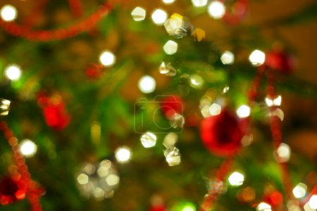Photo for Abstract background. Blurred colorful circles bokeh of christmas lights - Royalty Free Image