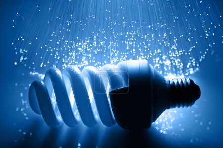 Photo for Fiber optics background with lots of light spots - Royalty Free Image