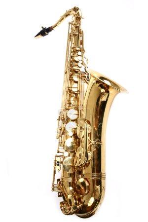 Photo for Saxophone isolated on white background - Royalty Free Image