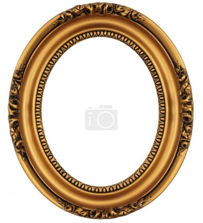 Photo for Vintage gold picture frame - Royalty Free Image