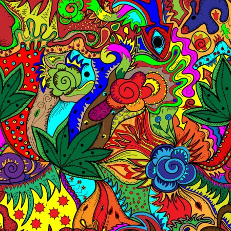 Illustration for Vector multicolored abstract art background for your design - Royalty Free Image