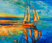 """Постер, картина, фотообои """"Корабль ветрила"""""""
