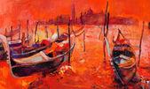 Orange sunset over Venice