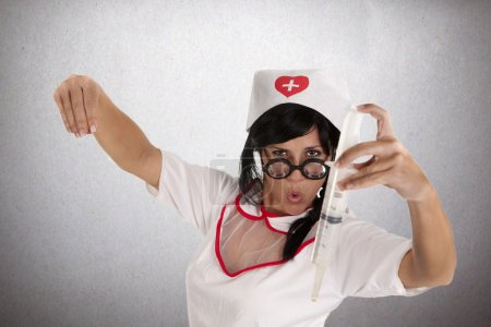 Nurse bullfighter