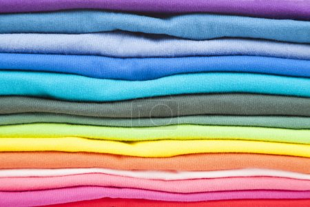 Close up of colorful clothes
