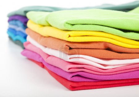 Photo for Pile of colorful clothes - Royalty Free Image