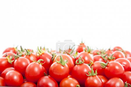 Photo for Group of fresh tomatoes on the white background - Royalty Free Image