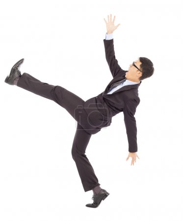 Photo for Businessman slip and fall and  a funny pose - Royalty Free Image