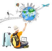 routard dessiner une planification de voyage de voyage