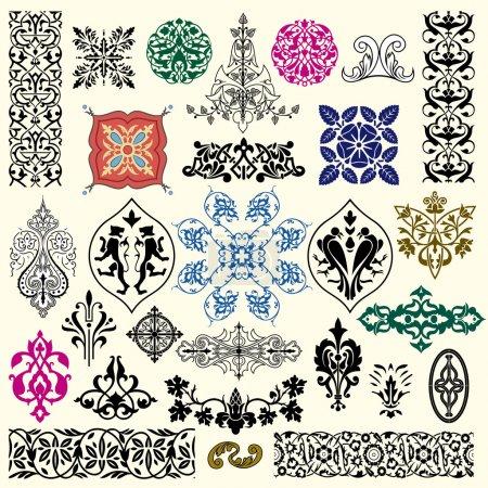 Illustration for Vintage different style design elements set - Royalty Free Image