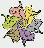 Seamless dog patterns