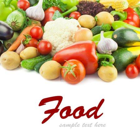Photo pour Saine alimentation / légumes frais / grande diversité / avec espace copie blanche - image libre de droit