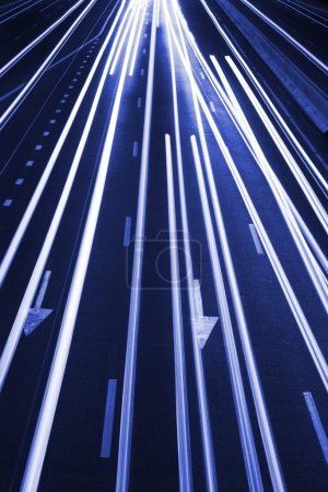 Abstract Traffic Road Background / Blue Toned