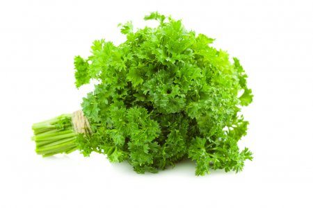 Bunch of fresh Parsley - isolated on white