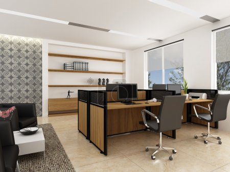 Photo pour Un intérieur de bureau moderne - image libre de droit