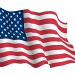 USA flag vector realistic...