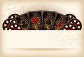 Casino wallpaper with poker elements vector