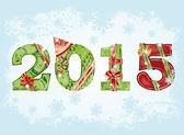 2015 novoroční pozdrav pozadí. vektorové ilustrace
