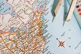 gros plan d'une carte avec new york usa
