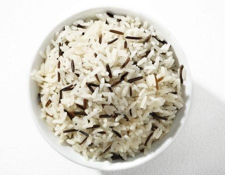 Black and white long-grain rice