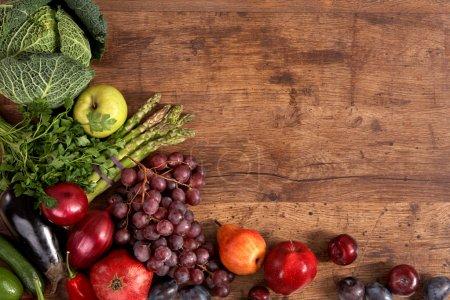 Organic foods background