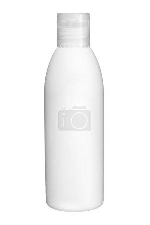 Photo for Studio photography of plastic bottle for shampoo - isolated on white background - Royalty Free Image