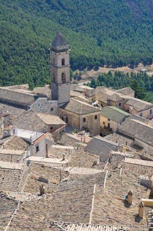 Panoramic view of Sant'Agata di Puglia. Puglia. It...
