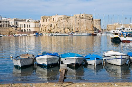 Photo for Panoramic view of Gallipoli. Puglia. Italy. - Royalty Free Image