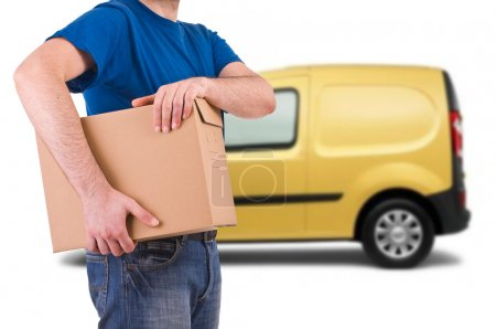 Photo for Delivery man. - Royalty Free Image