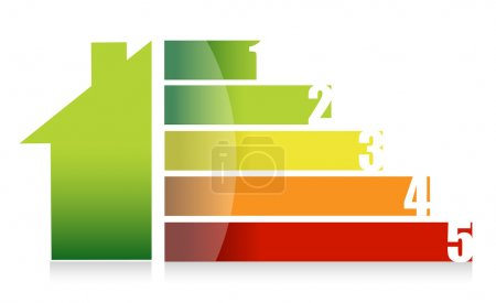 House market and colorful graph illustration