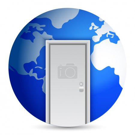 Photo for Door to the center of the world illustration design - Royalty Free Image
