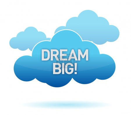 cloud and dream big text