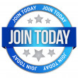 Join us today illustration design over a white bac...