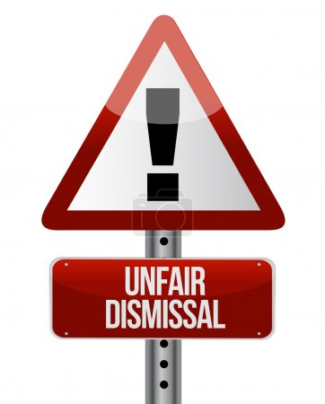 Photo for Road traffic sign with an unfair dismissal cost concept illustration - Royalty Free Image