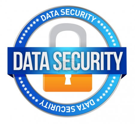 Data Security illustration design over a white bac...