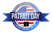 patriot day. us seal and banner
