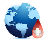 Země světa v krvi drop