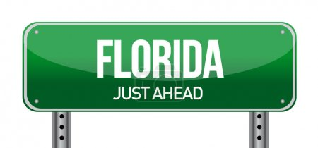 green Florida, USA street sign