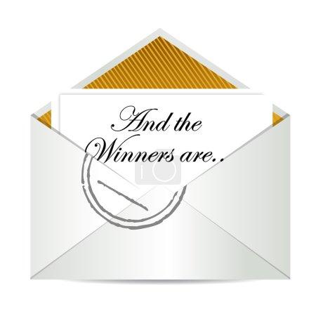 Award winners envelope