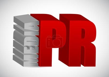 Photo pour Concept publicitaire. media PR illustration design sur blanc - image libre de droit