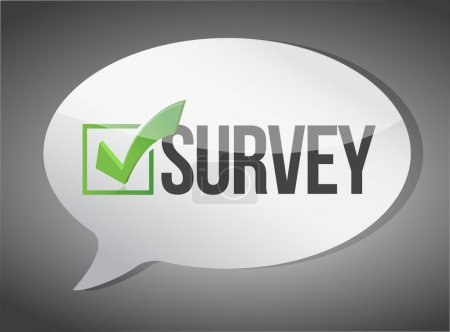 survey message communication concept