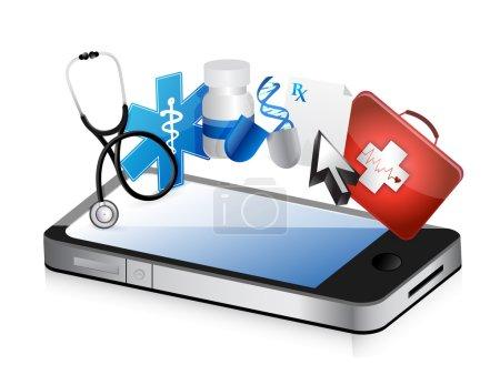 Smartphone medical concept