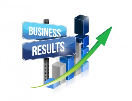 graph business results sign