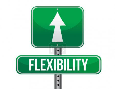 flexibility road sign illustration design