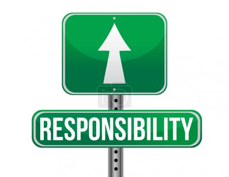 Photo pour Responsabilité signalisation routière illustration conception sur un fond blanc - image libre de droit