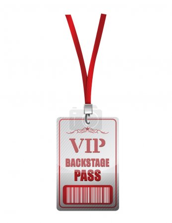 Photo pour Backstage pass conception illustration vip sur fond blanc - image libre de droit