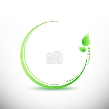 Foto de Fitness business yoga símbolo ilustración diseño sobre blanco - Imagen libre de derechos