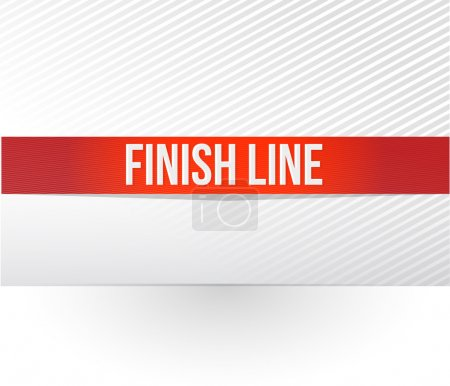 Photo for Finish line red tape illustration design over a white background - Royalty Free Image