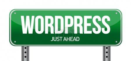 WordPress Verkehrszeichen Illustration