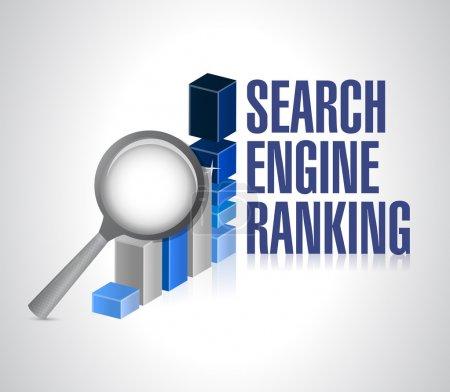 Photo pour Graphique d'affaires. moteur de recherche classement recherche. illustration design - image libre de droit